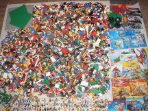 16,9 kg ÖMLESZTETT, VEGYES, KILÓS LEGO több, mint 140 db minifigurával, katalógusokkal, sok-sok kiegészítővel (City,Ninjago,Creator,Technic,Atlantis,Racers,Spongebob)