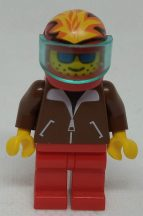 Lego Town figura - Jacket Brown (jbr007)