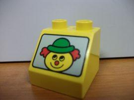 Lego Duplo képeskocka - bohóc