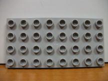 Lego Duplo Alaplap 4*8 (v. szürke)