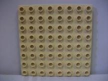 Lego Duplo Alaplap 8*8 (krém színű)