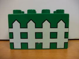 Lego Duplo képeskocka - kerítés (karcos)