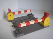 Lego Duplo átjáró (barnás-szürke) + 2 sorompó