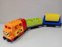 Lego Duplo mozdony, lego duplo vonat + utánfutók 10508 készletből