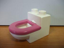 Lego Duplo Wc fehér-matt rózsaszín (!)