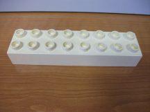 Lego Duplo 2*8 kocka (fehér)