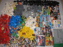 13,2 kg ÖMLESZTETT, VEGYES, KILÓS LEGO több, mint 70 db figurával, katalógusokkal (Minecraft, City, Star Wars, Technic) + lego könyv