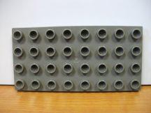 Lego Duplo Alaplap 4*8 (barnás szürke)