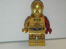 Lego Star Wars figura - C-3PO - Dark Red Arm (sw653) RITKA