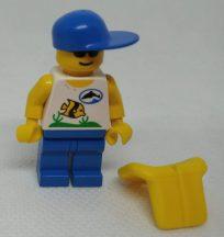 Lego Town figura - szörfös (div003)