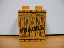 Lego Duplo képeskocka láda - törékeny - fragile (v. barna ! ) (karcos)