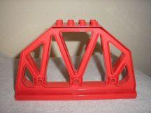 Lego Duplo vasúti híd elem, lego duplo vasúti felüljáró elem lego duplo vonatpályához
