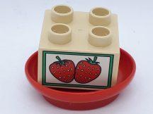 Lego Duplo eper tányérral