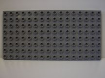 Lego Duplo Alaplap 8*16 s. szürke