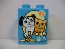 Lego Duplo képeskocka - cica, kutya