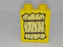 Lego Duplo Képeskocka - szalma (matricás)