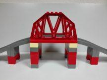 Lego Duplo - Vasúti híd, felüljáró 3774, lego duplo vonatpálya (barnás szürke)