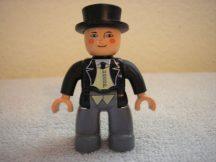 Lego Duplo ember - Thomas (kövér ellenőr) (kezén kicsi rágásnyom)