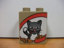 Lego Duplo képeskocka - cica  (karcos)