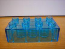Lego Duplo átlátszó kocka 4*2 világoskék