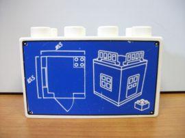 Lego Duplo képeskocka - tervrajz (karcos)