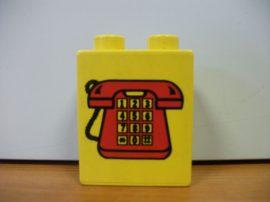 Lego Duplo képeskocka - telefon (karcos)