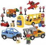 DUPLO jármű, autó, vonat, sín