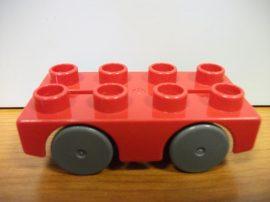 Lego Duplo Autó (piros) autópályához