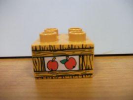 Lego Duplo képeskocka - alma (világos ! )