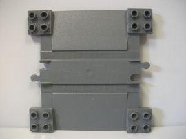 Lego Duplo vonat (átjáró) sorompó elem, lego duplo vonatpályához (barnás szürke)