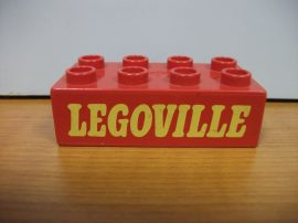 Lego Duplo képeskocka - legoville (karcos)
