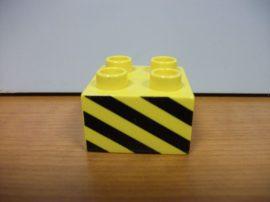 Lego Duplo képeskocka (csíkos)