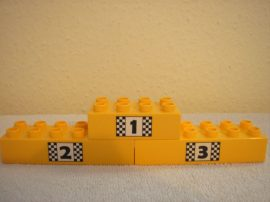 Lego Duplo képeskocka -  dobogó