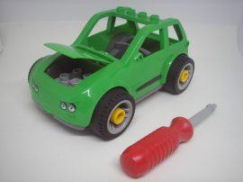 Lego Duplo Autó (zöld) kerekei lecsavarozhatóak