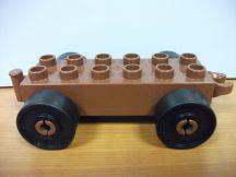 Lego Duplo utánfutó alap kapcsos barna-fekete