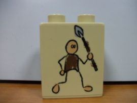 Lego Duplo képeskocka - ősember