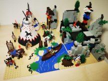 Lego System - Rapid River Village, Indián falu 6766 (pici eltérés, hiány) Western