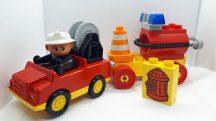 Lego Duplo tűzoltó autó tartállyal
