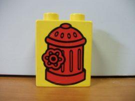 Lego Duplo képeskocka - tűzcsap (karcos)