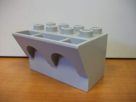 Lego Duplo vár elem v.szürke