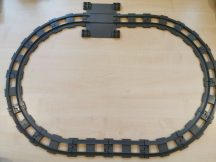 Lego Duplo sín csomag lego duplo vonatpályához (3 db egyenes, 12 db kanyar, 1 db átjáró) (szürke)