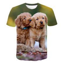 Gyerek 3D póló Kutya 120 méret