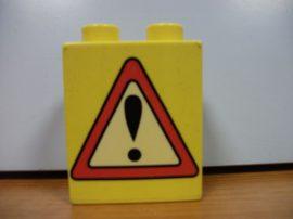 Lego Duplo képeskocka - közlekedési tábla (karcos)