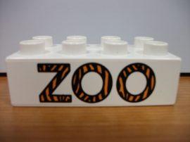 Lego Duplo képeskocka - zoo (karcos)