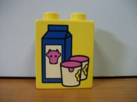 Lego Duplo képeskocka - tej
