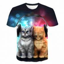Gyerek 3D póló Cica 120 méret  Cicás póló macskás póló