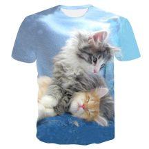 Gyerek 3D póló Cicák 130 méret Cicás póló macskás póló