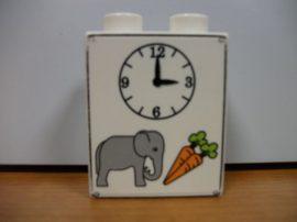 Lego Duplo képeskocka - elefánt