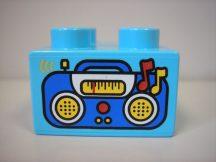 Lego Duplo képeskocka - rádió, magnó
