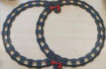Lego Duplo sín csomag lego duplo vonatpályához 2 db váltóval (17 db szürke sín, 2 db szürke váltó)